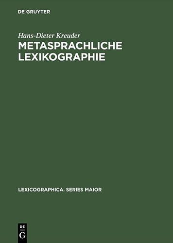 9783484391147: Metasprachliche Lexikographie: Untersuchungen zur Kodifizierung der linguistischen Terminologie