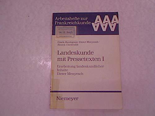 9783484501270: Erarbeitung Landeskundlicher Inhalte: 1 (German Edition)