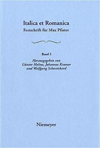 9783484503533: [Dialektologie Und Soziolinguistik; Onomastik; Literatur- Und Kulturgeschichte; Wissenschaftsgeschichte]: Aus: Italica Et Romanica: Festschrift F R Ma