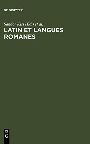 9783484505087: Latin et langues romanes (French Edition)