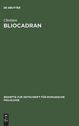 9783484520554: Bliocadran: A Prologue to the