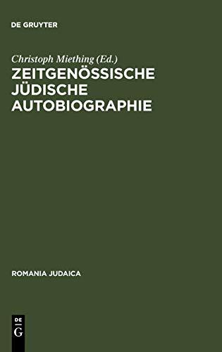 9783484570078: Zeitgenössische jüdische Autobiographie (Romania Judaica) (German Edition)