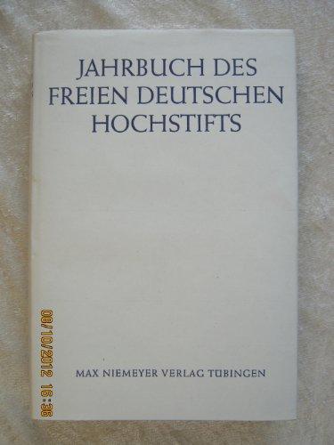 9783484601093: Jahrbuch des Freien Deutschen Hochstifts (1975)