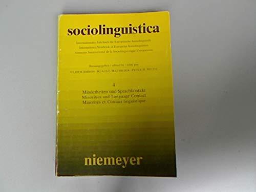 9783484603462: Minderheiten und Sprachkontakt, Bd 4