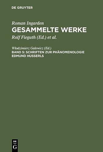 9783484641051: Schriften zur Phèanomenologie Edmund Husserls