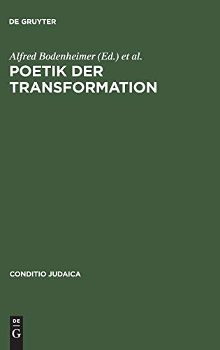 9783484651289: Poetik der Transformation (Conditio Judaica)