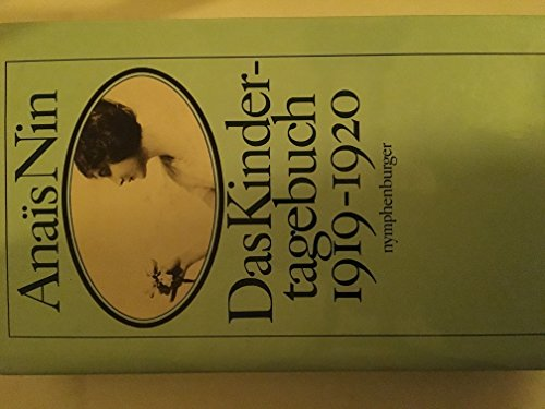 9783485004053: Das Kindertagebuch 1919 - 1920