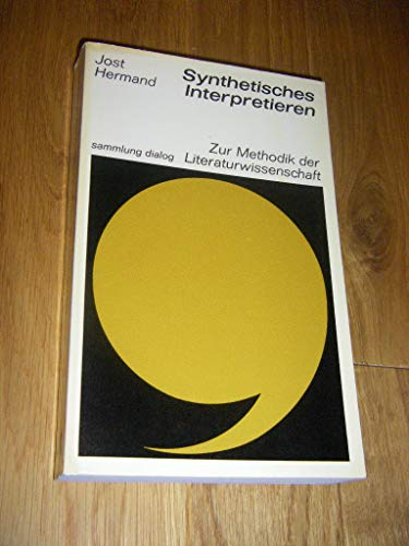 9783485030274: Synthetisches Interpretieren