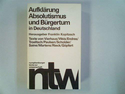 Aufklärung, Absolutismus und Bürgertum in Deutschland: Kopitzch, Franklin