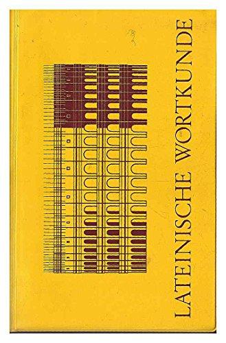 9783486099119: Lateinische Wortkunde. Für Latein als 1. und 2. Fremdsprache