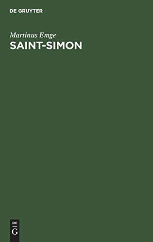 9783486202359: Saint-Simon: Einführung in ein Leben und Werk, eine Schule, Sekte und Wirkungsgeschichte