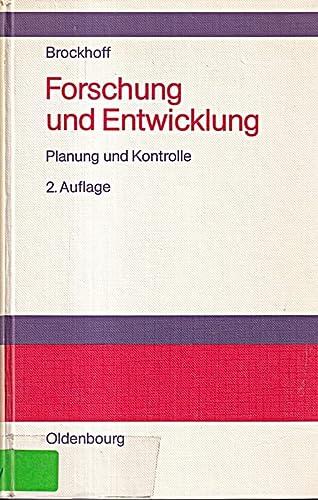 9783486212730: Forschung und Entwicklung. Planung und Kontrolle