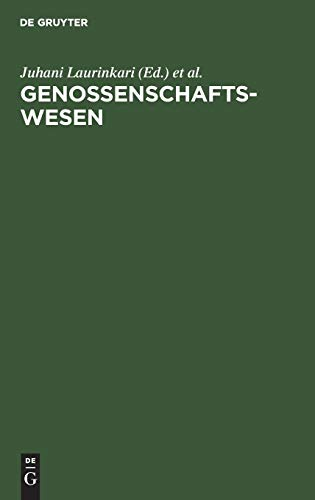 Genossenschaftswesen: Hand- und Lehrbuch: Hrsg.) Laurinkari, Juhani