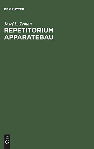 Repetitorium Apparatebau: Josef L. Zeman