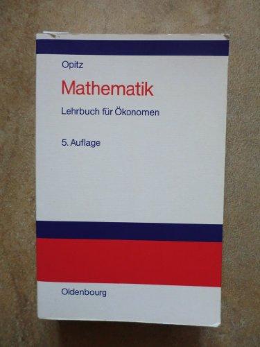 9783486231175: Mathematik. Lehrbuch für Ökonomen