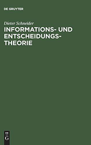 9783486232288: Informations- und Entscheidungstheorie