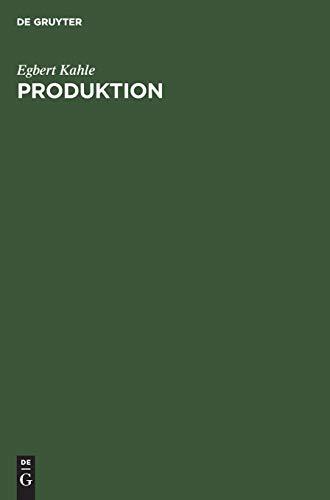 9783486234985: Produktion: Lehrbuch zur Planung der Produktion und Materialbereitstellung