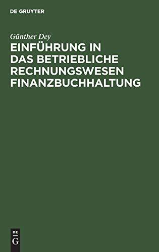 9783486240450: Einf�hrung in das betriebliche Rechnungswesen. Finanzbuchhaltung mit EDV-Unterst�tzung: mit EDV-Unterst�tzung
