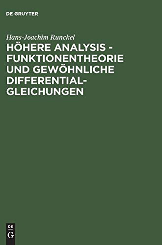 9783486249040: Höhere Analysis: Funktionentheorie Und Gewöhnliche Differentialgleichungen (German Edition)