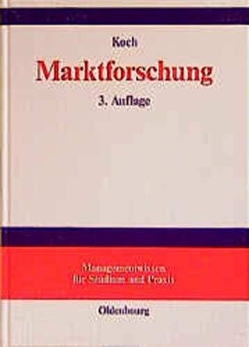 9783486256048: Marktforschung. Begriffe und Methoden (Livre en allemand)