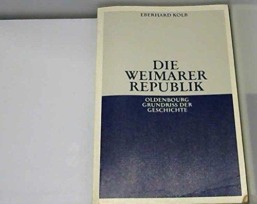 9783486497939: Die Weimarer Republik