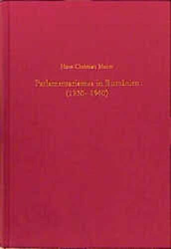 Parlamentarismus in Rumänien (1930-1940): Hans-Christian Maner