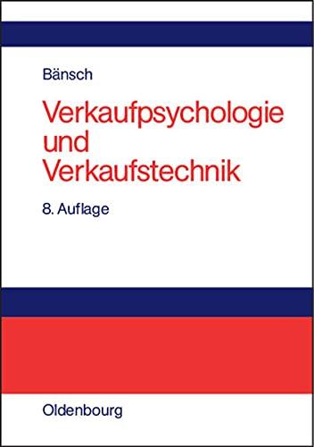 9783486578720: Verkaufspsychologie und Verkaufstechnik