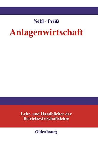 Anlagenwirtschaft: Nebl, Theodor /Prüß,