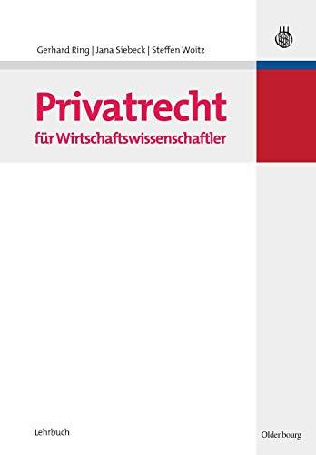 9783486586619: Privatrecht f�r Wirtschaftswissenschaftler