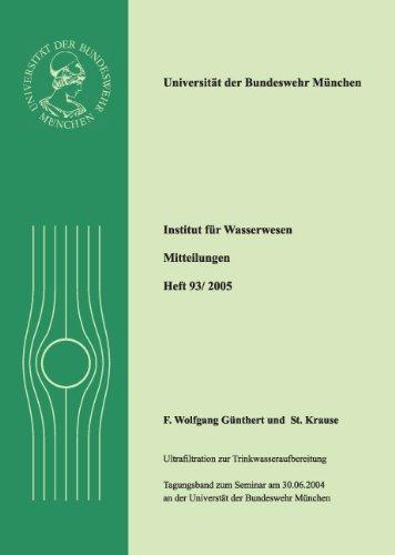 9783486630671: Ultrafiltration zur Trinkwasseraufbereitung