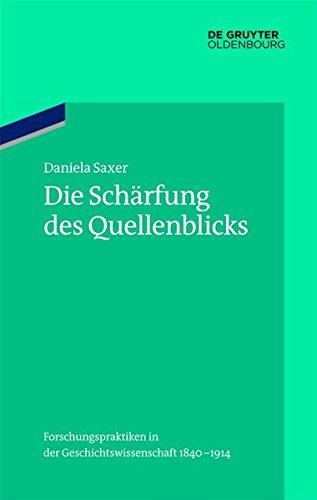 Die Schärfung des Quellenblicks: Daniela Saxer