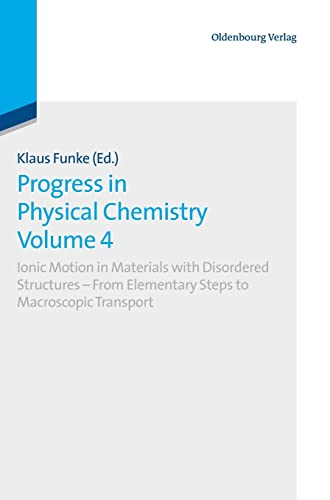 Progress in Physical Chemistry Volume 4