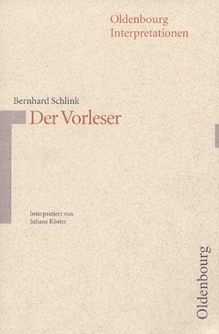 9783486887457: Der Vorleser (Oldenbourg-Interpretationen) (German Edition)
