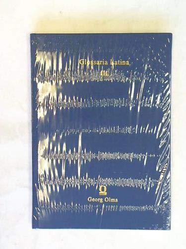 Glossaria Latina, Iussu Academiae Britannicae edita. Bd.