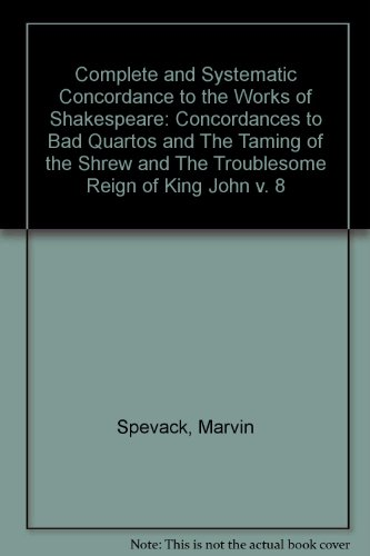 9783487018256: Complete and Systematic Concordance to the Works of Shakespeare: Concordances to