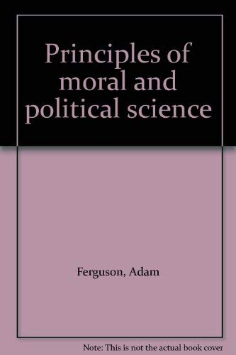 9783487058689: Principles of moral and political science