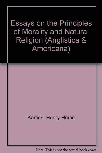9783487061139: Essays on the Principles of Morality and Natural Religion (Anglistica & Americana)