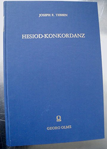 9783487062686: Hesiodus: Computer Concordance to Hesiod (Alpha-Omega, Series A)