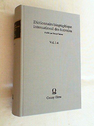 9783487067032: Dictionnaire Biographique International Des Ecrivains