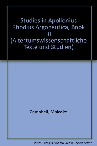 Studies in Apollonius Rhodius