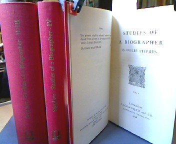 Studies of a Biographer: 4 vols. in 3 volumes.