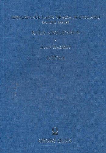 Renaissance Latin Drama in England:Risus Anglicanus, John: John Hacket