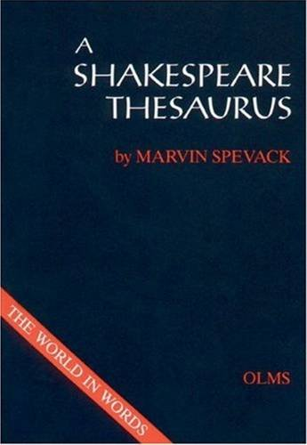 9783487097756: A Shakespeare Thesaurus (Shakespeare Database)