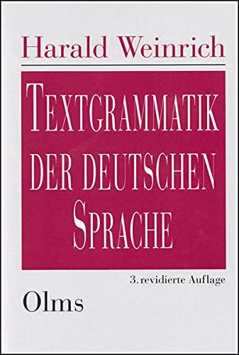 9783487117416: Textgrammatik der deutschen Sprache