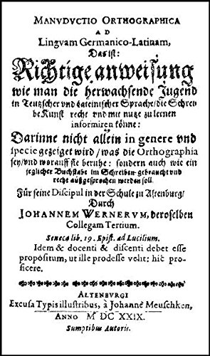 Manuductio Orthographica (1629): Werner, Johann; Moulin, Claudine