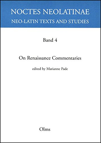 9783487129556: On Renaissance Commentaries
