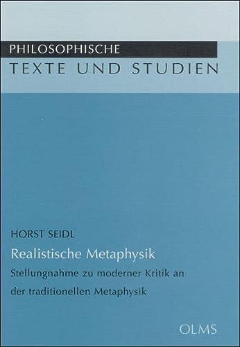 Realistische Metaphysik: Horst Seidl