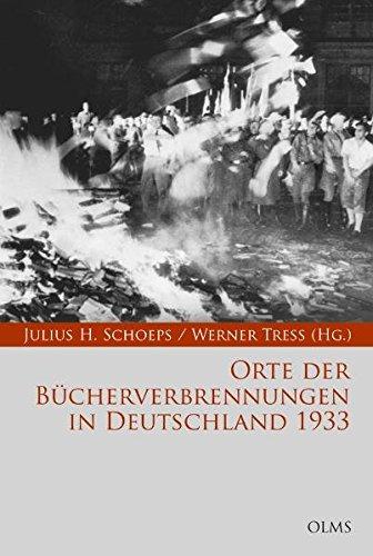 Orte der Bucherverbrennungen in Deutschland 1933