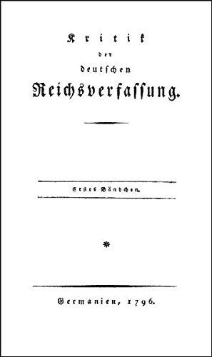 Kritik der deutschen Reichsverfassung: Johann Nikolaus Becker