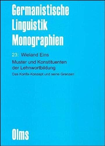 muster und konstituenten der lehnwortbildung das konfix konzept und seine grenzen paperback - Konzept Muster